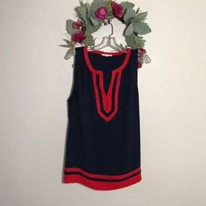 41 Hawthorn Navy and Red Tank